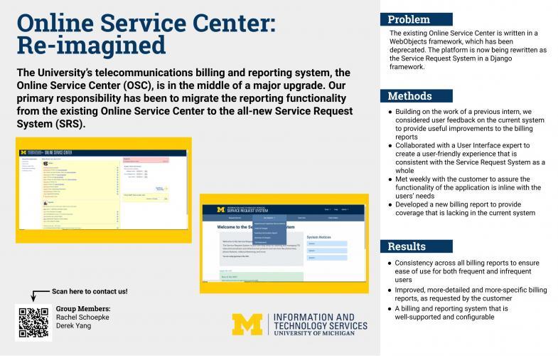 Online Service Center: Re-imagined Presentation