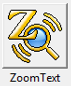 ZoomText on/off toggle button