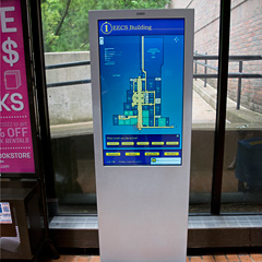 Kiosk in the Electrical Engineering and Computer Science Building