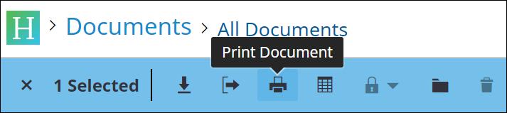 print documents icon