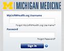 A login screen for Michigan Medicine's Patient Portal