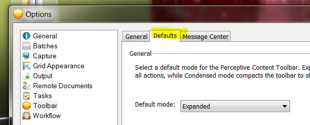 default tab