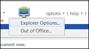 explorer options